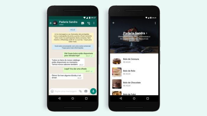 WhatsApp adiciona botão de compras (Imagem: Divulgação/WhatsApp)
