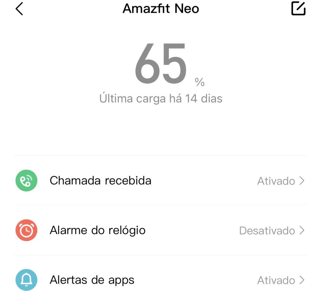 Amazfit Neo fica mais de 30 dias longe da tomada (Imagem: reprodução/Zepp)