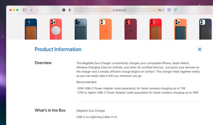 Apple revela nova limitação no carregador sem fio MagSafe Duo (Imagem: Reprodução/Tecnoblog)