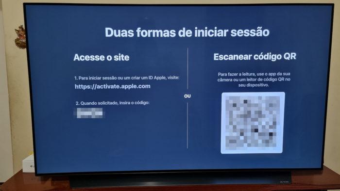 Tela de login por dispositivo móvel (Imagem: Ronaldo Gogoni/Tecnoblog)