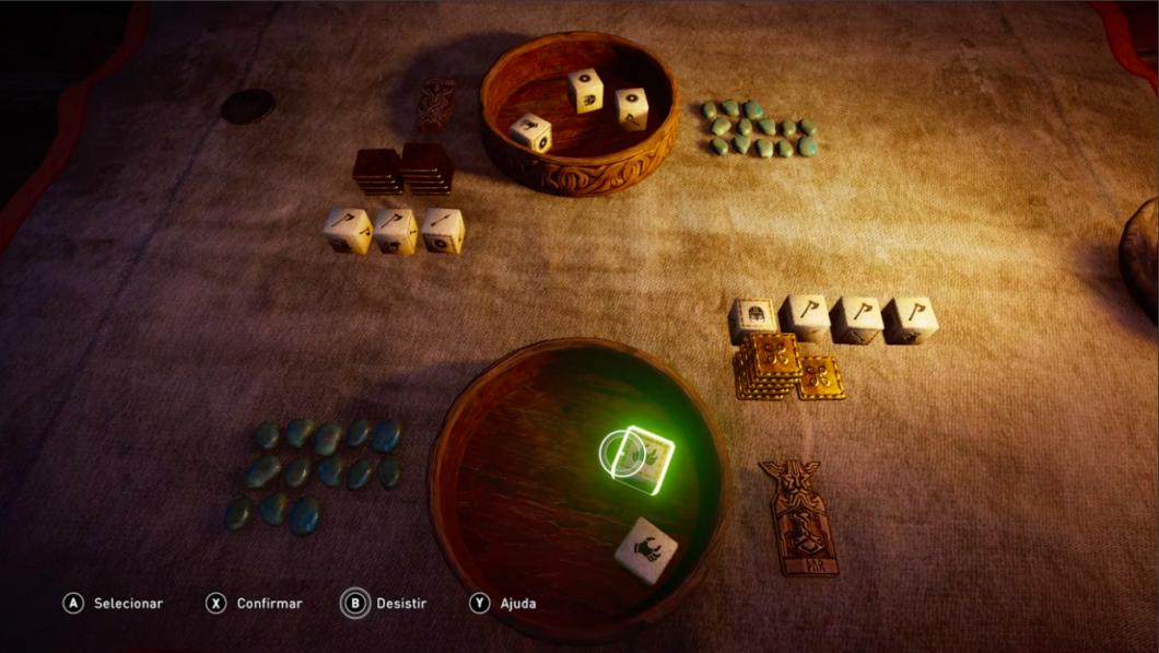 Assassin's Creed Valhalla é recheado de minigames e conteúdo extra (Imagem: Felipe Vinha/Tecnoblog)