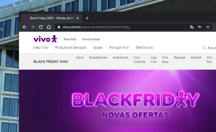 Promoções de Black Friday (Imagem: Divulgação/Site Vivo)