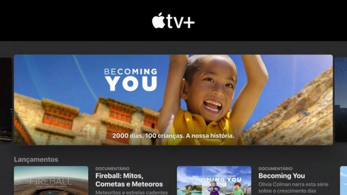 Dashboard da Apple TV+ (Imagem: Reprodução/Apple)