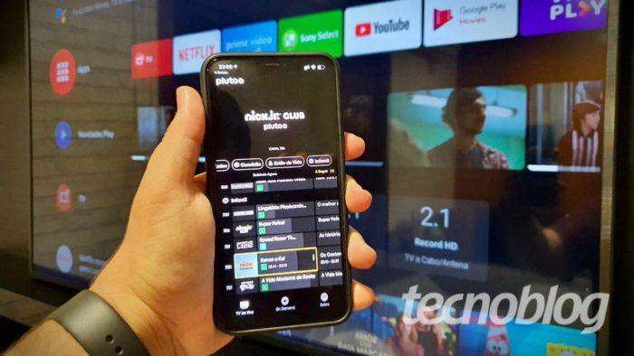 App do Pluto TV leva IPTV gratuito ao iOS (Imagem: Lucas Braga/Tecnoblog)
