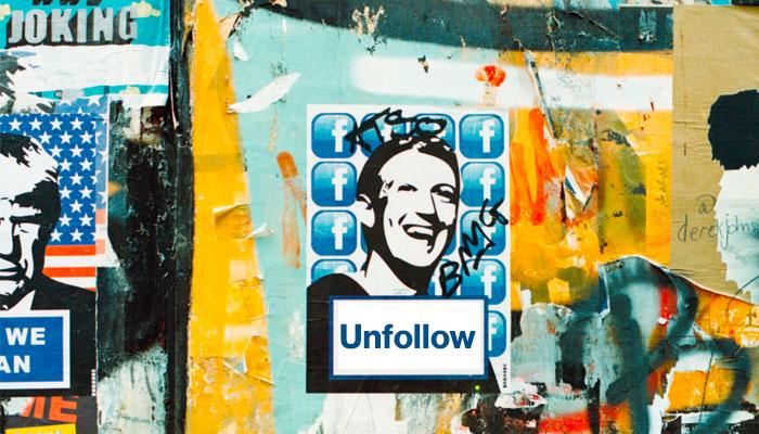 Unfollow stencil Facebook