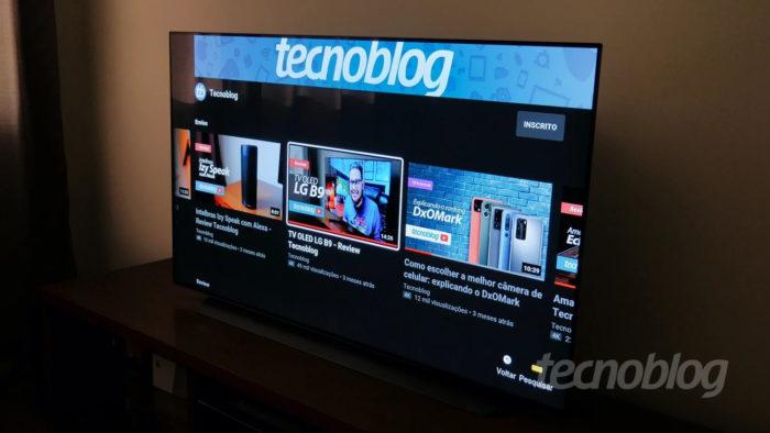 TV OLED LG CX (Imagem: Paulo Higa/Tecnoblog) / como descobrir o mac da tv