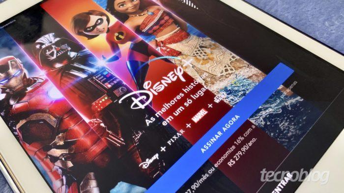 Disney+ no Apple iPad (Imagem: Bruno Gall De Blasi/Tecnoblog) / navegadores compatíveis disney+
