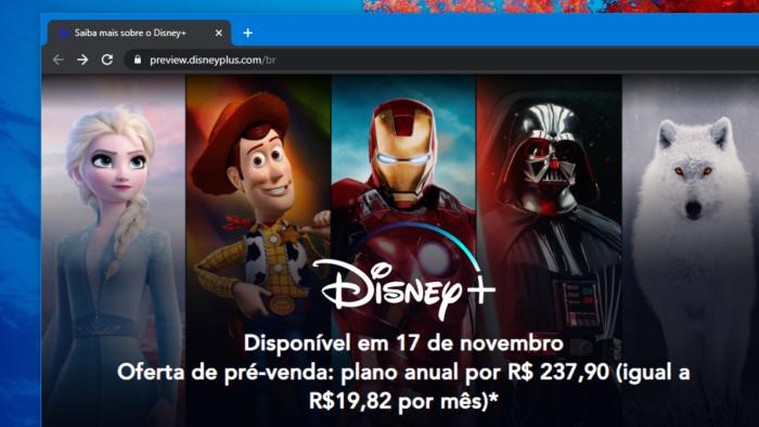 Pré-venda começou no Brasil (Imagem: Reprodução/Disney+)
