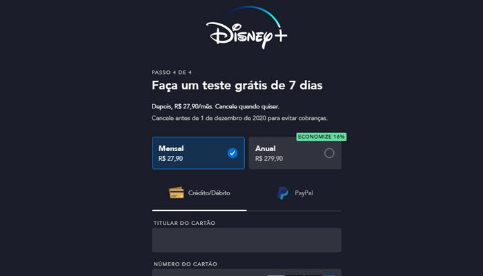 Última etapa antes de assistir o Disney+ de graça (Imagem: Reprodução/Disney+)