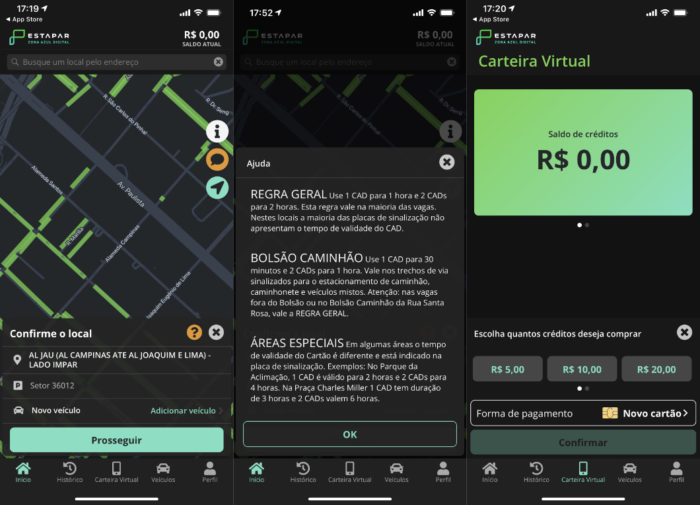 Aplicativo Estapar para iPhone (Imagem: reprodução/Estapar)