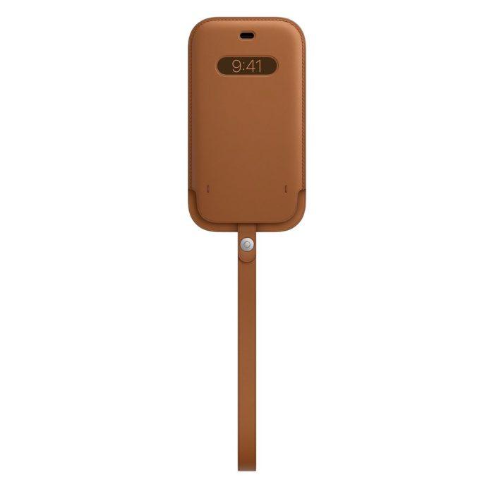 Estojo de couro com MagSafe (Imagem: Divulgação/Apple)