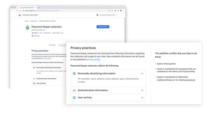 Extensões do Chrome vão informar quais dados coletam dos usuários (Imagem: Divulgação/Google)