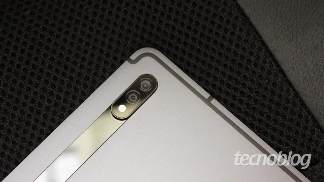 Galaxy Tab S7 cameras (image: Emerson Alecrim / Tecnoblog)