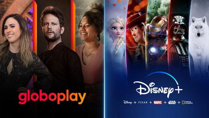 Globoplay e Disney+ (Imagem: Divulgação/Globo)