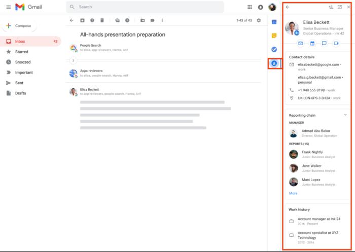 Google adiciona aba lateral de contatos dentro do Gmail na web (Imagem: Divulgação/Google)