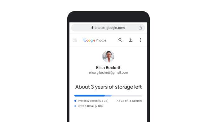 Google Fotos tem estimativa sobre seu armazenamento (Imagem: Divulgação/Google)