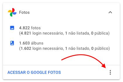 opção para baixar google fotos