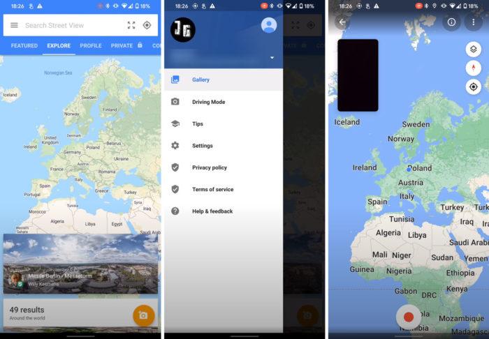 Google Street View testa Modo Direção (Reprodução/Street View)