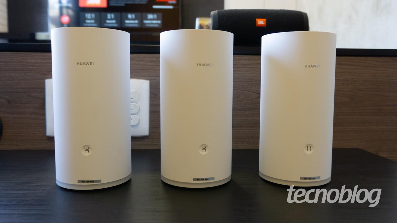 Huawei Wi-Fi Mesh (Imagem: Lucas Braga/Tecnoblog)