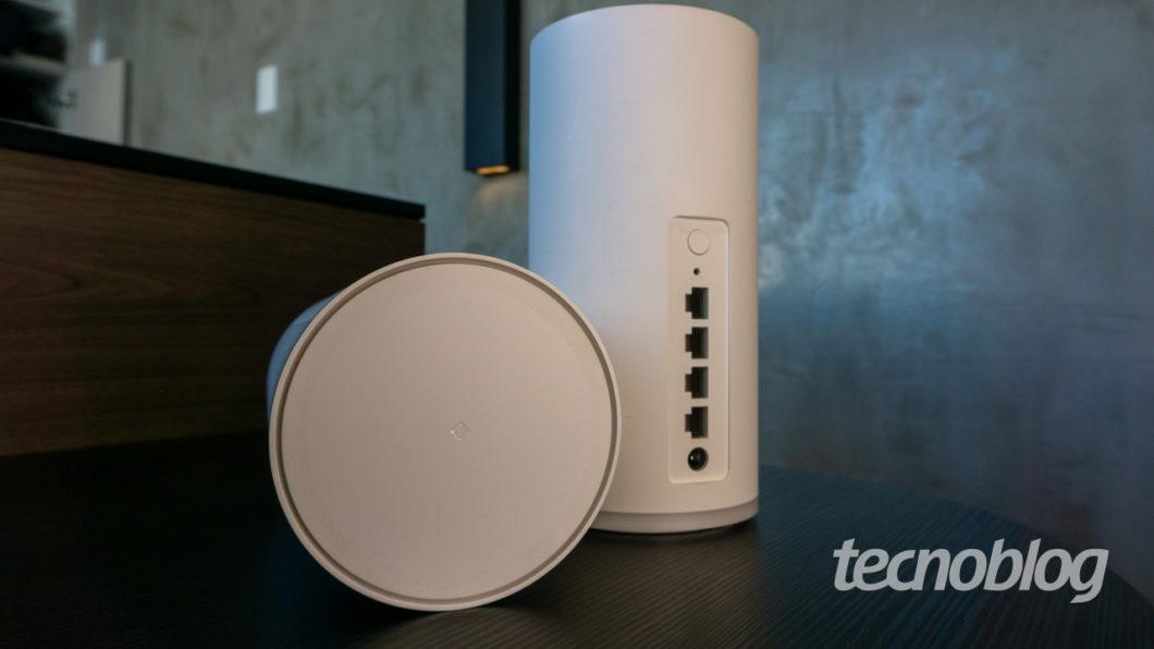 Marcação de NFC no Huawei WiFi Mesh (Imagem: Lucas Braga/Tecnoblog)