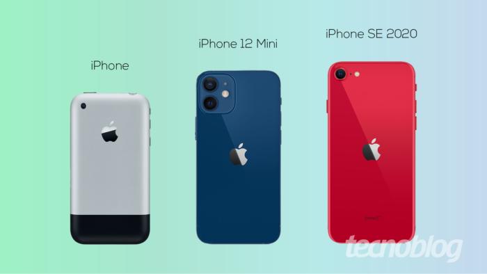 iPhones pequenos