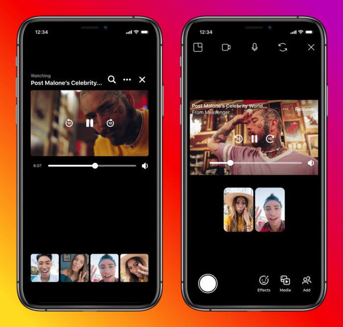 Instagram e Messenger anunciam recursos Assistir Juntos (Imagem: Divulgação/Instagram)