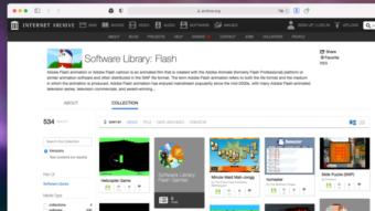 Internet Archive vai guardar e emular jogos em Flash
