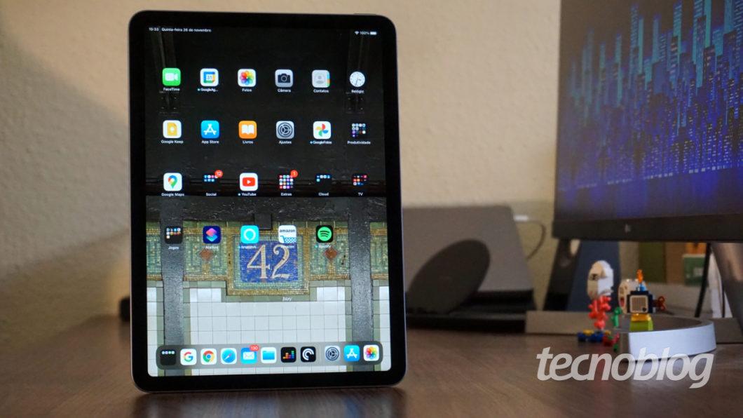 iPad Air (2020) (Imagem: André Fogaça/Tecnoblog)