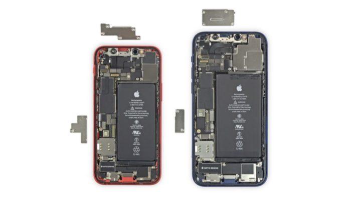 Desmanche do iPhone 12 Mini (Imagem: Reprodução/iFixit)
