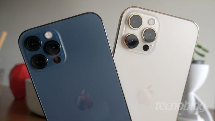 iPhone 12 Pro e Pro Max (Imagem: Paulo Higa/Tecnoblog)
