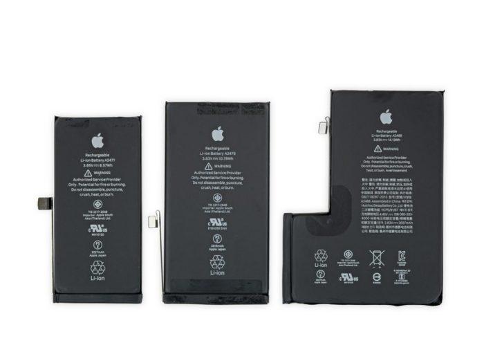 Bateria dos iPhone 12 (Imagem: Reprodução/iFixit)