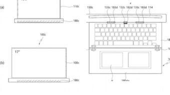 LG registra patente de notebook com tela enrolável de 17 polegadas