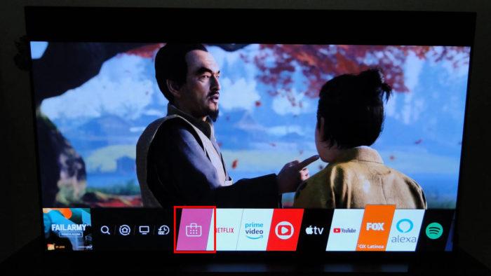 Ícone da loja de apps em uma TV LG (Imagem: Ronaldo Gogoni/Meio Bit)
