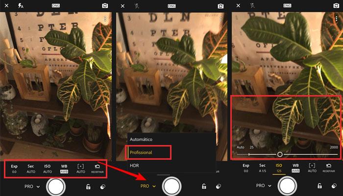 Recursos básicos Lightroom no celular