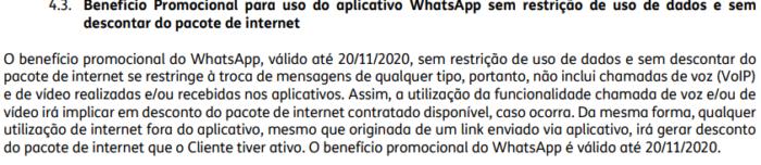 Mecânica do WhatsApp promocional no contrato do TIM Controle (Imagem: Reprodução/TIM)