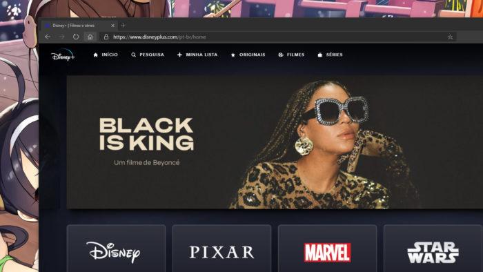 Página do Disney+ (Imagem: Reprodução/Disney)