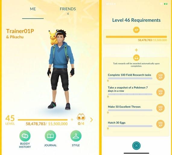 Novos requisitos de nível em Pokémon GO (Imagem: Divulgação/Pokémon GO)