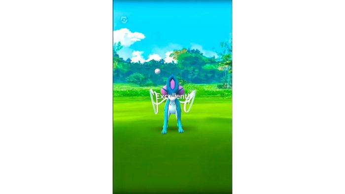 Jogada excelente bem sucedida (Imagem: Reprodução/Niantic/The Pokémon Company)