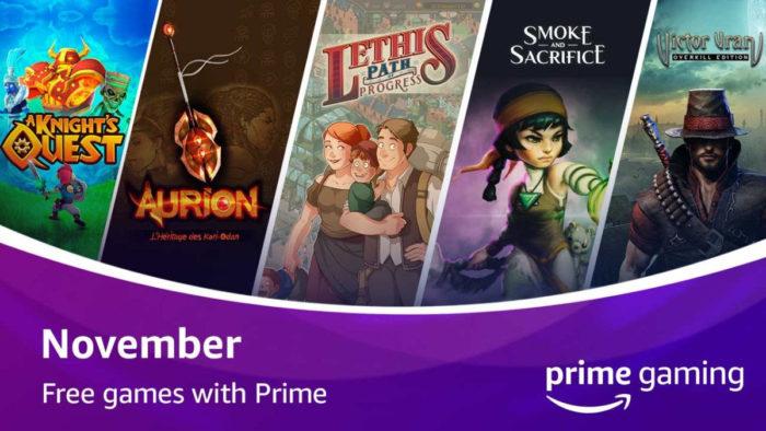 Jogos do Prime Gaming de novembro de 2020 (Imagem: Divulgação/Amazon)