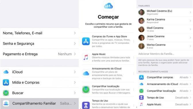 Como configurar Compartilhamento Familiar no iPhone (Imagem: Divulgação / Apple)