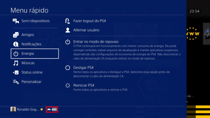 Meu rápido do PS4 (Imagem: Reprodução/Sony)