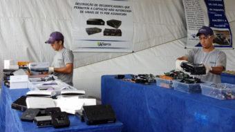 Receita anuncia destruição de 160 mil TV Box de IPTV pirata
