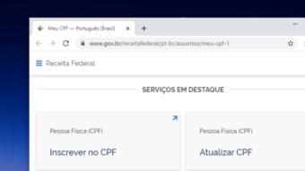 Receita Federal ganha seção para regularizar CPF pela internet