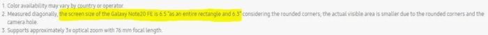 Samsung Brasil menciona Galaxy Note 20 Fan Edition em site oficial (Imagem: Reprodução/SamMobile)