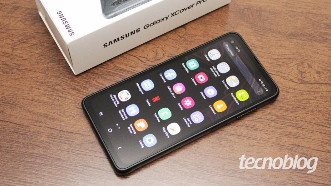 Samsung Galaxy XCover Pro (imagem: Emerson Alecrim/Tecnoblog)