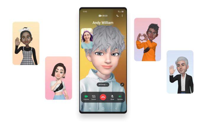 Chamada de vídeo na One UI 3.0 (imagem: divulgação/Samsung)