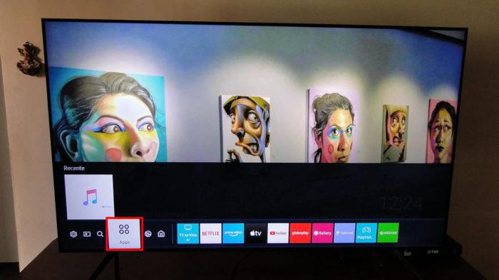 Ícone da loja de apps em uma TV Samsung (Imagem: Ronaldo Gogoni/Meio Bit)