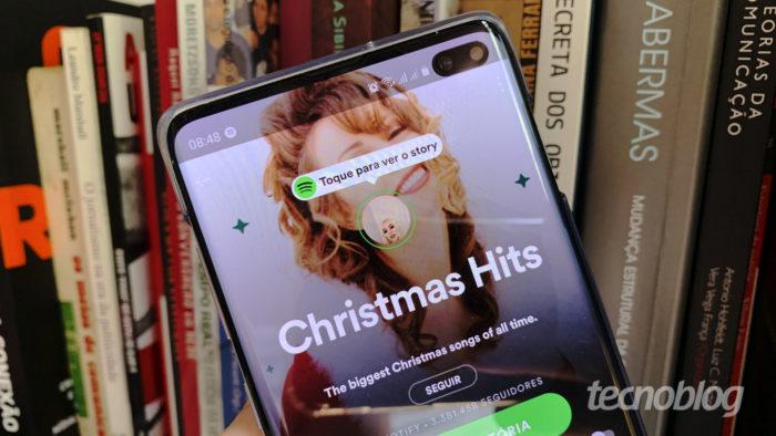 Stories do Spotify (Imagem: Bruno Gall De Blasi/Tecnoblog)
