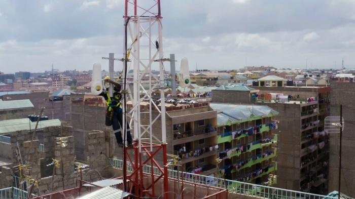 Instalação de terminal para feixes de luz no Quênia (imagem: divulgação/Alphabet)