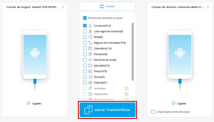Como transferir contatos de um celular para outro (Imagem: Reprodução/Wondershare Dr.Fone)